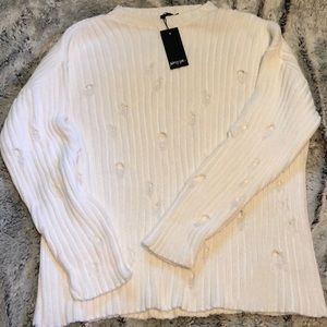 Nasty Gal distressed sweater (NWT)